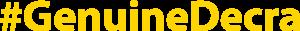 #GenuineDecra Logo